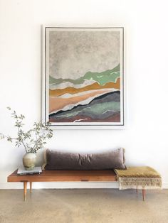 "Giclée Canvas Print ""Desert Air"" — Lauren Williams Art + Home Wall Art Decor, Room Decor, Muebles Living, Interior Decorating, Interior Design, Acrylic Painting Canvas, Metal Wall Art, Entryway Decor, Entryway Bench"