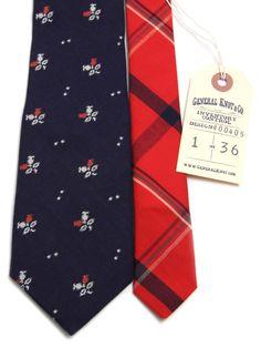 General Knot & Co - Mini Jacquard Navy Floral Necktie