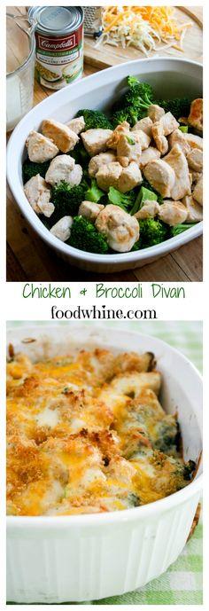 Chicken & Broccoli Divan. Quick, easy, and sooo delicious!