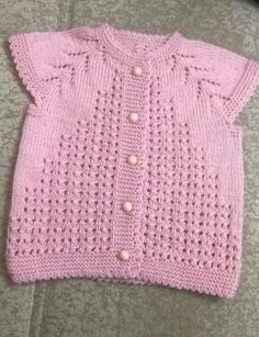 This is a very easy pattern, mostly baby knitting this model. - This is a very easy pattern, mostly baby knitting this model. Starting from the collar 3 plain 1 dr - Baby Cardigan Knitting Pattern Free, Baby Knitting Patterns, Knitting For Kids, Crochet For Kids, Easy Knitting, Baby Afghan Crochet, Knit Crochet, Easy Model, Baby Vest