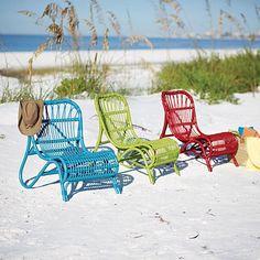 Beach rattan chairs