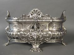 Silver over Bronze Planter, Frenc - 19th Century
