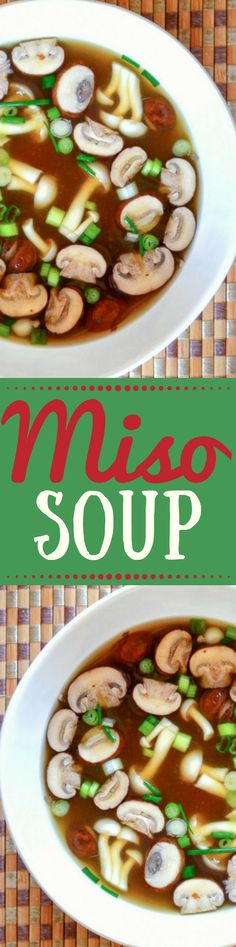 Miso Soup is the original health food its been nourishing the. Miso Soup is the original health food its been nourishing the Japanese for centuries and you can make it yourself in minutes. Soup Recipes, Whole Food Recipes, Vegetarian Recipes, Cooking Recipes, Healthy Recipes, Vegan Vegetarian, Smoothie Recipes, Healthy Soup, Healthy Eating