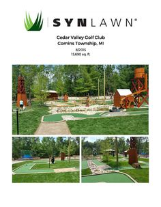 Commercial resume for SYNLawn artificial grass in commercial applications for pet zones play areas public spaces theme parks hospitality and landscape apps. Space Theme, Case Study, Resume, Michigan, Golf Courses, Paradise, Commercial, Club, Landscape