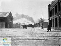 Railway Street, St. Thomas, looking south from Talbot Street, ca. 1911-1912. by Elgin County Archives, via Flickr