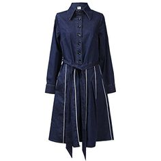 NONOSIZE Womens Jean Denim Casual Long Sleeve Loose Shirt Swing Vintage Cotton Lapel Belted Dress with Pocket XXXL Blue >>> Check this awesome product by going to the link at the image-affiliate link.
