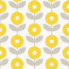 """Mod Floral Removable Wallpaper in Gold """"The Sarah Hearts Collection"""" Textile Pattern Design, Surface Pattern Design, Textile Patterns, Flower Patterns, Print Patterns, Mid Century Modern Art, Mid Century Art, Pach Aplique, Small Space Interior Design"""