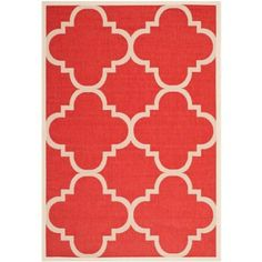 Safavieh Courtyard Red 4 ft. x 5 ft. 7 in. Area Rug - CY6243-248-4 - The Home Depot