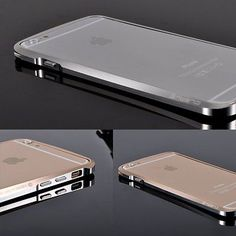 """Luxury Bicolor Metal Aluminum Bumper Frame Hard Case for iPhone 5 5S 6 4 7"""" Does not apply 