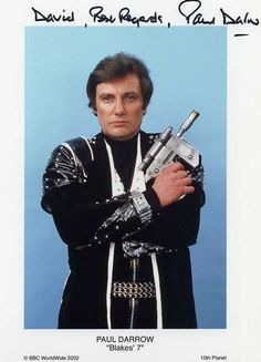 Paul Darrow as Avon from #blakes 7. Who could be scared of a man with laugh lines like that?