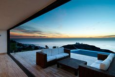 patio with an ocean view