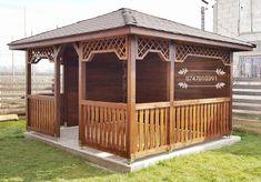 Backyard Pergola, Gazebo, Wooden Summer House, Design Case, Outdoor Structures, Interior Design, Garden, Houses, Blue Prints