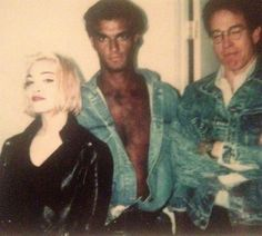 1989 rare photo of Madonna and Warren Beatty around the time of the Express Yourself music video shoot