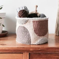 Punched basket. Its