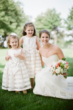 With the flower girls. Photography By / http://meredithperdue.com/,Wedding Planning   Design By / http://rebeccaroseevents.com