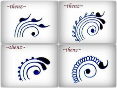 Henna patterns that can also be applied to zentagle art