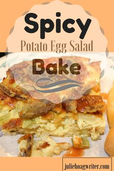 Spicy Potato Egg Salad Bake is a tasty vegetarian breakfast recipe that has some spice in its eggs and incorporates egg salad ingredients. It is simple and easy to make with easy to find ingredients. Lovers of spicy eggs and egg salad sandwiches will love this recipe. Add a croissant or crescent roll on the side.