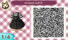 "odinville-crossing: "" QR for the little dungaree dress my mayor wears. """