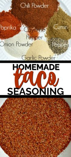 Making Homemade Taco Seasoning is so easy to make with spices you probably already have on hand. Mix it up with chili powder cumin garlic powder onion powder paprika black pepper and a little cayenne. It's the best for tacos burritos dips and more! Make Taco Seasoning, Taco Seasoning Packet, Seasoning Mixes, Salt Free Taco Seasoning Recipe, Burritos, Homemade Spices, Homemade Seasonings, Homemade Taco Seasoning Mix, Puffy Tacos
