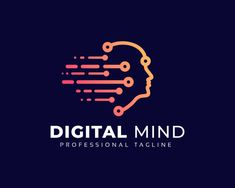 Digital Mind Logo Popular Logos, Creative Advertising, Mindfulness, Digital, Design, Ads Creative, Design Comics, Consciousness, Awareness Ribbons