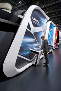 Creative Point of purchase displays and exhibition booths for trade-shows… Tv Set Design, Kiosk Design, Pop Design, Display Design, Stage Design, Retail Design, Screen Design, Exhibition Stand Design, Exhibition Stall