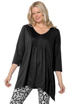f97c97fadfe Plus Size Pintuck tunic Woman Within