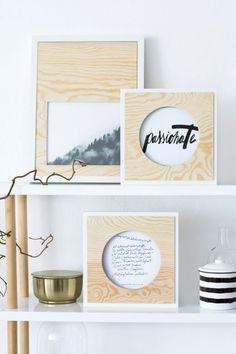 DIY Quickie: Passepartout aus Sperrholz