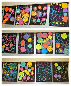 PRESCHOOL DOT COLLAGES My PreK students were learning about the different types of shapes. To introduce circles, we read The Dot by Peter Reynolds. Students then used their cutting skills to trim multi-colored squares in… Kindergarten Art Lessons, Kindergarten Art Projects, Art Lessons Elementary, Kindergarten Shapes, Preschool Shapes, Doodle Drawing, Dot Day, Design Floral, Ecole Art