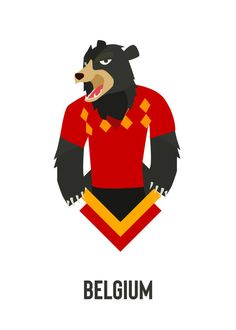 FIFA World Cup Russia 2018 World Cup Animals Belgium  Displate artwork by  artist