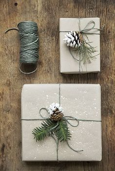Natural materials, Wrapping and Wrapping ideas on Pinterest
