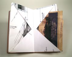 Heidi Kyle, one long sheet folded into a self bound book with pockets and pages