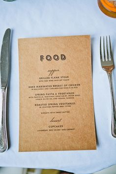 menu design ideas #Weddings #Events #Rehearsal Dinners ...