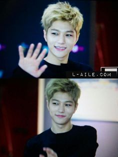 I actually really like his blonde hair...