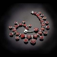 """Wallace Chan, """"Ode of Love"""" Diamond, Crystal, Red Agate @ 2012"""