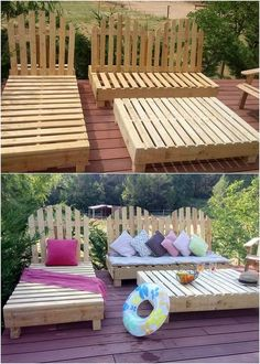 You will probably be loving out this outdoor furniture design that is finished completely from top to bottom with the wood pallet. This structure of the wood pallet is beautifully attached with the highlighting effect of the wood pallet durable finishing taste that makes it overall dramatic.