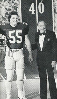 Auburn All American Ben Tumbrello and Bobe Hope 1967...