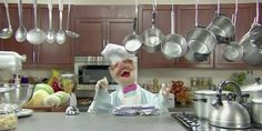 Music video by The Muppets performing Popcorn. (C) 2010 The Muppets Studio, LLC The Cw, Les Muppets, Dancing In The Kitchen, Aged Balsamic Vinegar, Come Dine With Me, Gif Animé, Animated Gif, Old Kitchen, Crunches