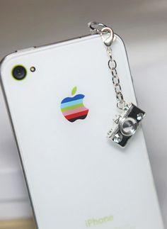 iPhone Charm - Dust Plug Headphone Plug Charm -Camera Earphone Plug - Camera Charm. $8.00, via Etsy.
