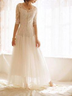 Sweetheart  Neckline Lace Bodice Floor Length Wedding Bridal Dress, Free shipping