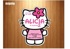 Hello Kitty Birthday Invitation Digital File 4X6 or by DesignShoop, $9.90