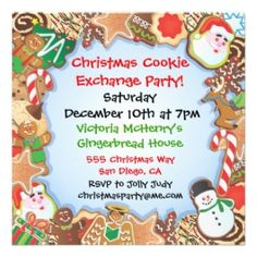 52 Best Cookie Exchange Invitations Images On Pinterest Christmas