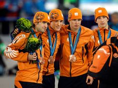Our country has many successful ice skaters. Gold, silver and bronze medallists in Olympic Wintergames 2010. World Championships Ice Skating Allround 2012. Three best ice skaters were all Dutch (1-Sven Kramer, 2-Jan Blokhuijsen, 3-Koen Verweij).