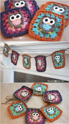 Lovely Crochet Owl Granny Squares - 31 Free Crochet Patterns That You will in Love with | 101 Crochet