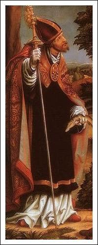 St. Ulric of Augsburg pray for us and against birth complications, against mice and moles and for weavers. Feast day July 4.