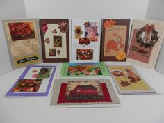 10 Thanksgiving Autumn Harvest Blank Greeting Note Card by 2lewa