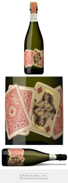Packaging House of Cards Sparkling Wine - Packaging of the World - Creative Package Design Gallery - Wine Bottle Design, Wine Label Design, Wine Tattoo, Pinot Noir Wine, Wine Packaging, House Of Cards, Sparkling Wine, Kakao, Packaging Design Inspiration