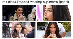 funny, kim kardashian, and lipstick image