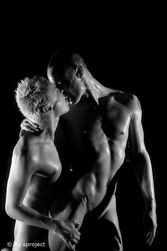 the kiss © by sproject. Gay Art, Low Key, Art Photography, Kiss, Fine Art, Statue, Studio, Classic, People