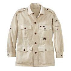 Men's Cotton Safari Jacket   National Geographic Store