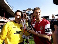 Arsenal FC. David Seam & Tony Adams